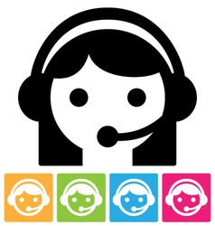 call center icon vector image
