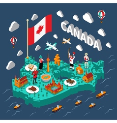 Canada Isometric Map vector image