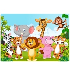 Cartoon happy little animal vector image vector image