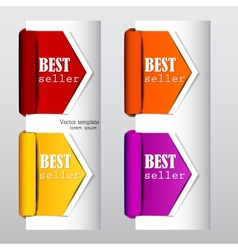 Colorful arrows and bookmarks bestseller vector image vector image
