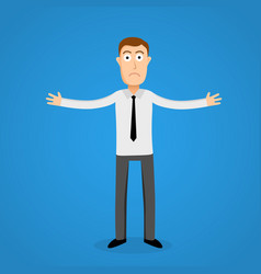 confused business man cartoon person vector image vector image