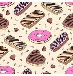 Doughnut seamless pattern vector