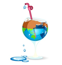 earth day preserve water vector image vector image