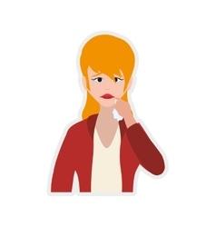 Face sad eyes expression cartoon icon vector