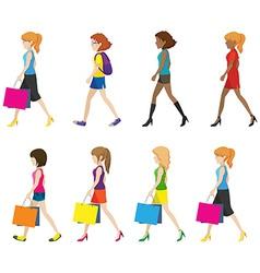 Faceless ladies walking vector image vector image
