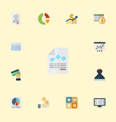 flat icons mark algebra pie bar and other vector image vector image