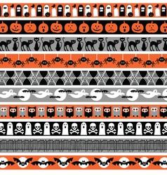 Halloween borders vector