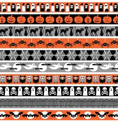 halloween borders vector image