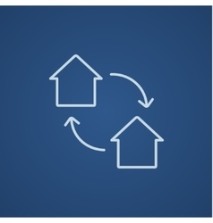House exchange line icon vector image vector image