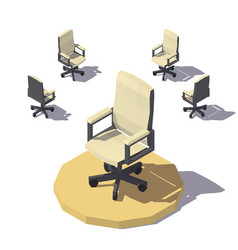 Isometric low poly office chair vector