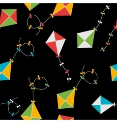 Kite Seamless Pattern Background vector image vector image