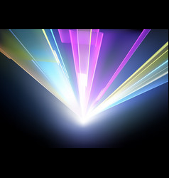 Laser disco lights background vector