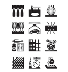 Light and heavy industry vector image vector image