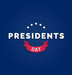 Presidents day card national american vector