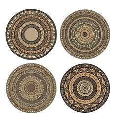 Set of ethnic mandala vector image vector image