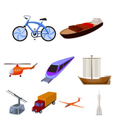 set of pictures about types of transport vector image