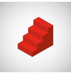 Stairs isometrics design vector