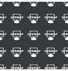 Straight black sitemap pattern vector