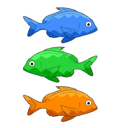 three fishes vector image vector image