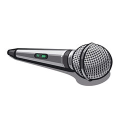 Modern plugged microphone vector