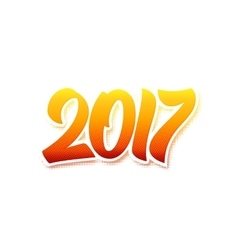 Happy new year 2017 flat retro background vector