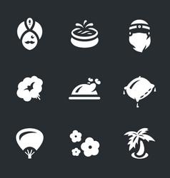 Set of arabic harem icons vector