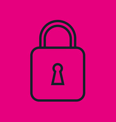 Padlock security password social network icon pink vector