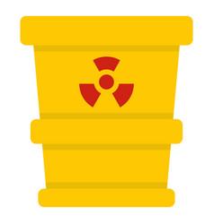 Ttrashcan containing radioactive waste icon vector