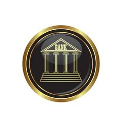 bank icon button gold copy vector image
