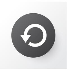 Replay icon symbol premium quality isolated vector