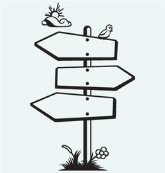 Wooden arrow board vector image