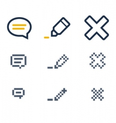 Comment icons vector