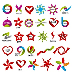 biggest collection of logos abstraction vector image