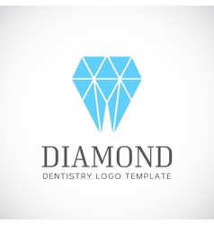 Diamond dentistry tooth abstract logo template vector