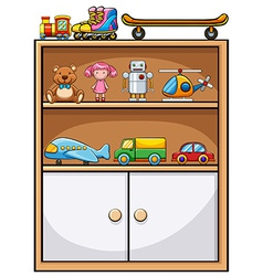 Toys and shelf vector image