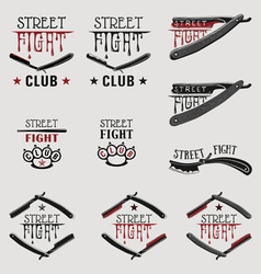 Street fight brass knuckles vector