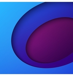 Cut out blue and purple circle shapes abstract vector