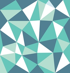 Low polygon green tone vector