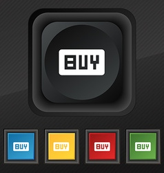 Buy online buying dollar usd icon symbol set of vector