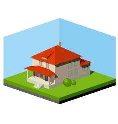 Small suburban house vector