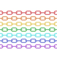 Colorful chain seamless vector