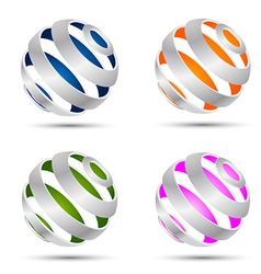Set of abstract spheres vector