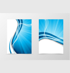 Wave flyer template design vector