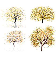 Autumn tree set vector