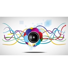 abstract speaker and lines vector image vector image