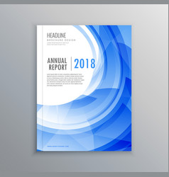 amazing brochure flyer design template with blue vector image vector image
