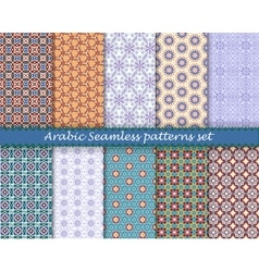 Arabic islamic seamless pattern set eps10 vector image vector image