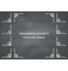 Calligraphic design elements vector image vector image