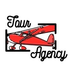 Color vintage tour agency emblem vector image vector image