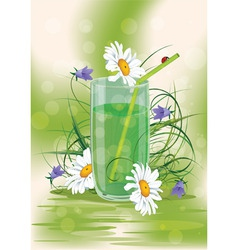 daisys in a glass vector image